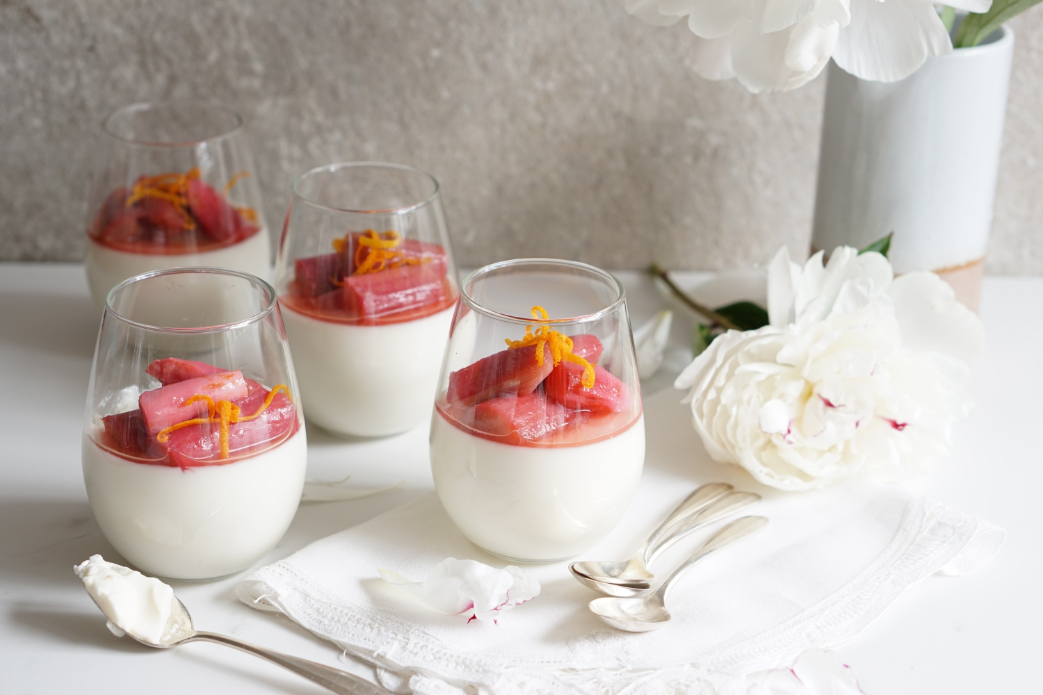orange blossom panna cotta pcess