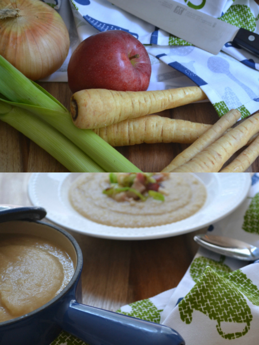 Parsnip-Apple Soup Collage
